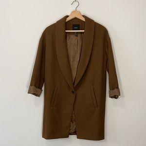 Brown Wool Blazer Jacket